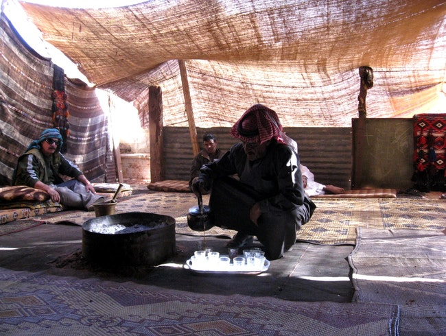 Drinking tea with the Bedouins