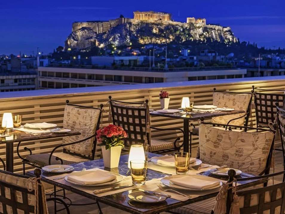 Dinner With The Acropolis Athens  Greece