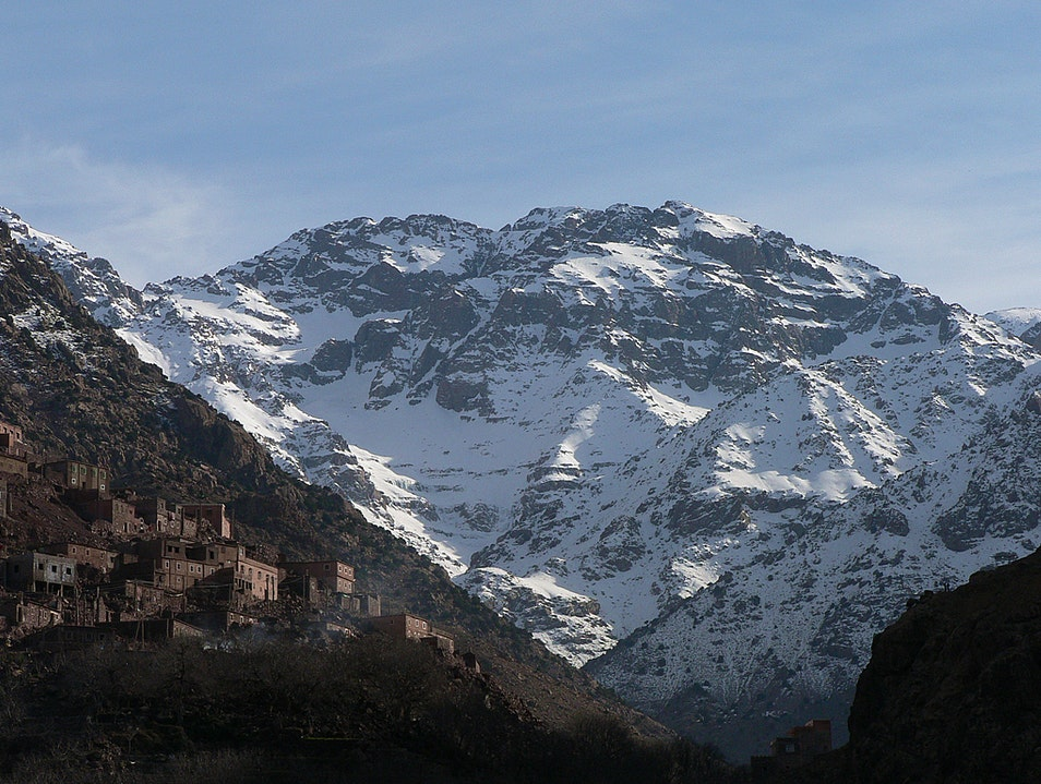 View of Jebel Toubkal Imlil  Morocco