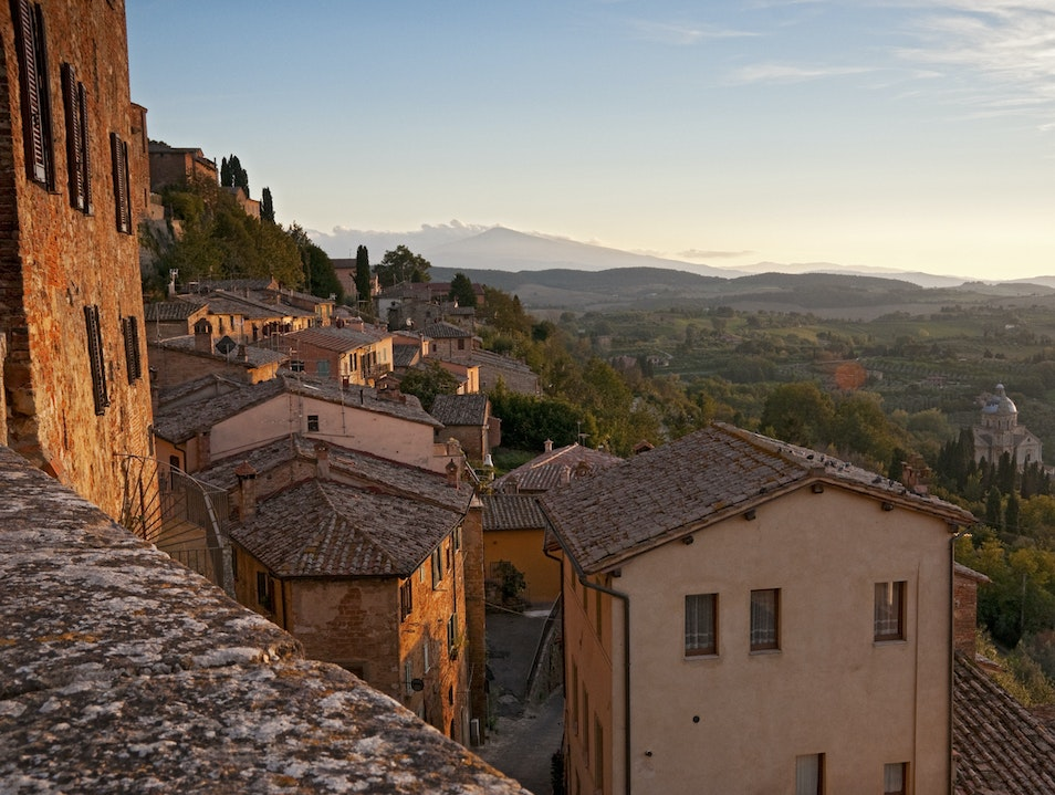 Sunset over the Tuscan Hills Montepulciano  Italy