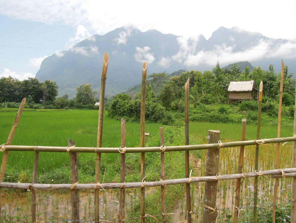 Mountain biking in Nong Kiau, Laos