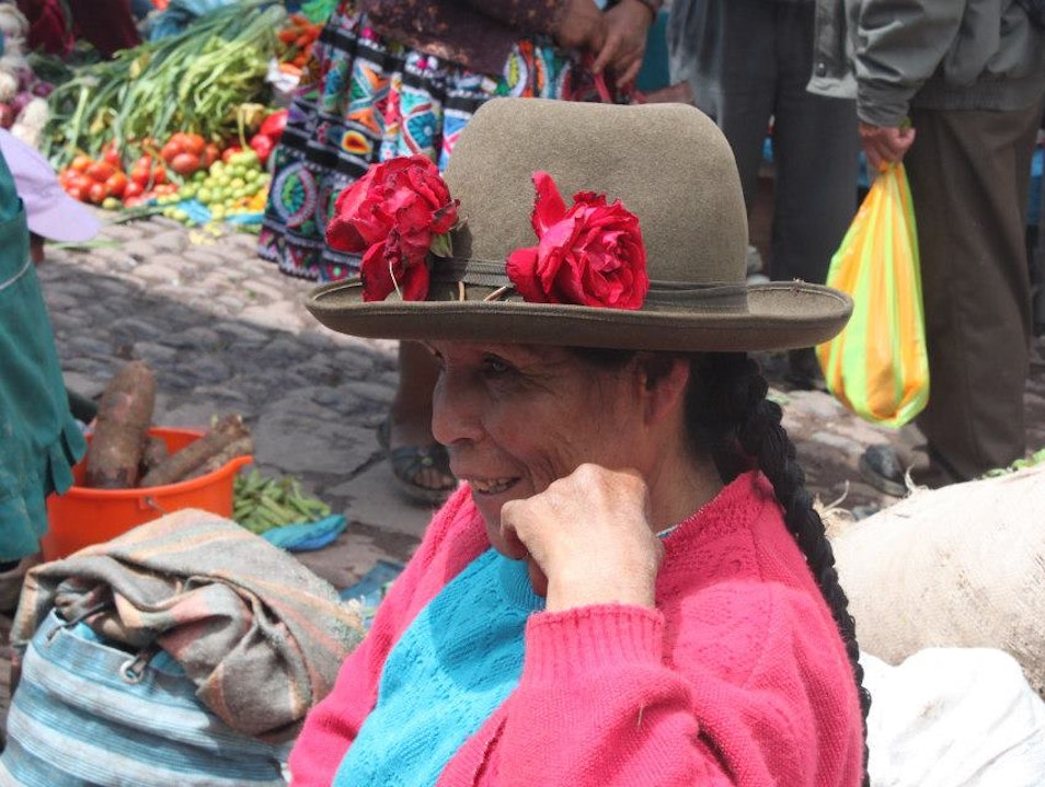 Pisac Market in the Sacred Valley Urubamba  Peru