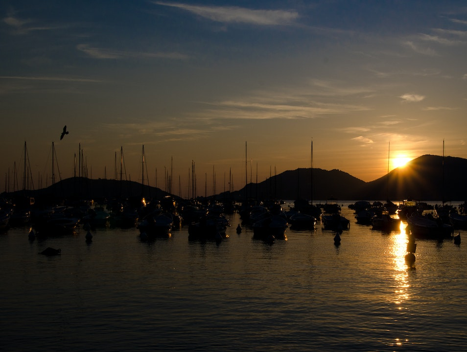 Port - Sunset  Lerici  Italy
