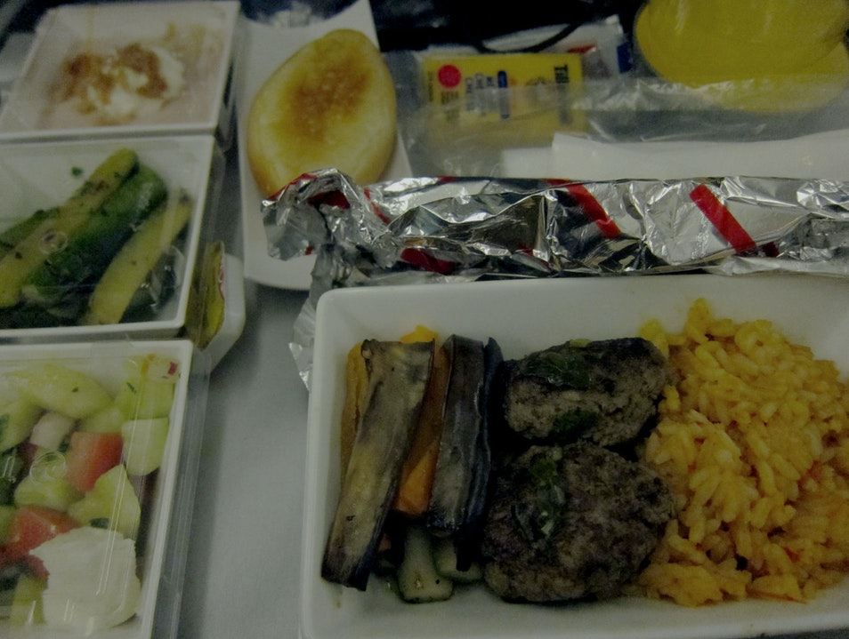 Dinner on Turkish Airlines