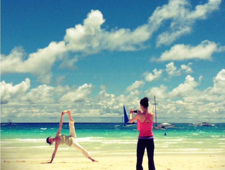 Yogis On White Beach