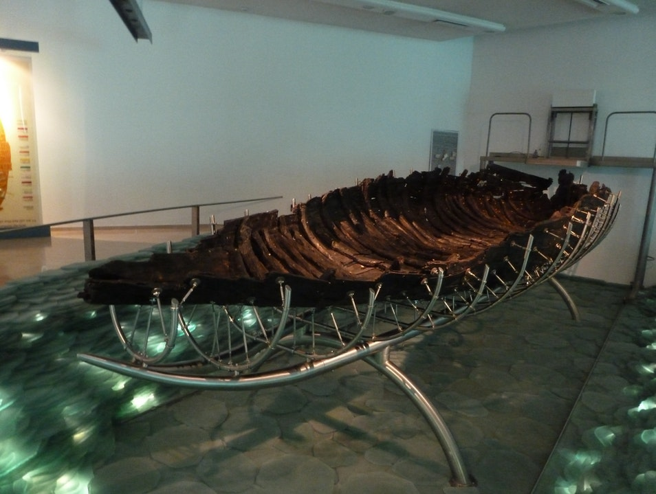 The Very Ancient (1st-Century!) Galilee Boat Ginosar  Israel