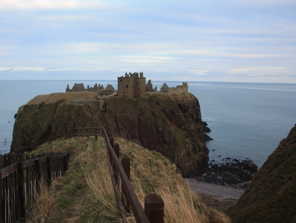 Hike to the ruins of Dunnottar Castle Aberdeenshire  United Kingdom