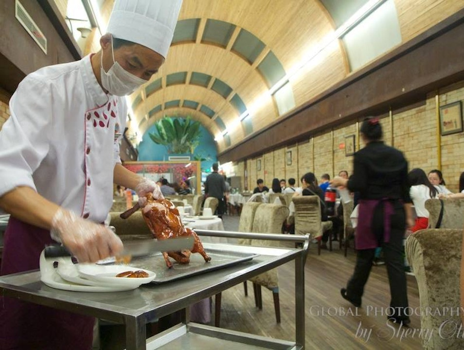 Peking Duck Carved At the Table
