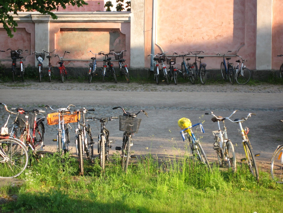Take Your Bike to Suomenlinna Castle  Helsinki  Finland