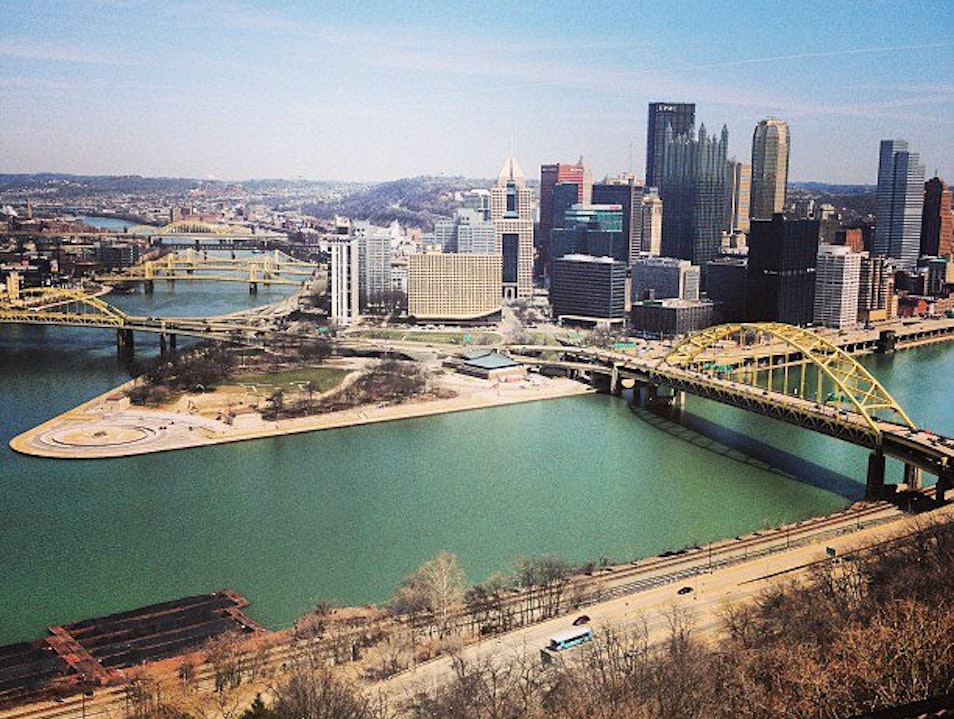 Pittsburgh From Above Pittsburgh Pennsylvania United States