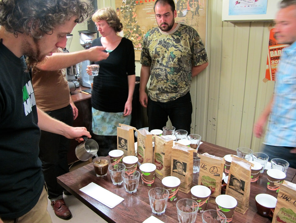 Cupping event at People's Coffee Wellington  New Zealand