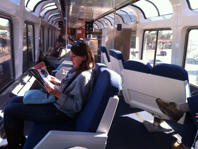 Take the sleeper train from Portland to Emeryville