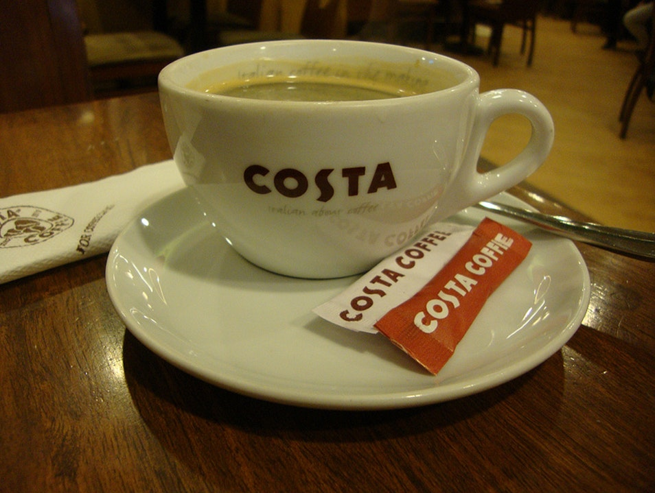 Foreign Meets Familiar at Costa Coffee