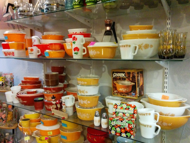 Pyrex Piled High at Fremont Vintage Mall