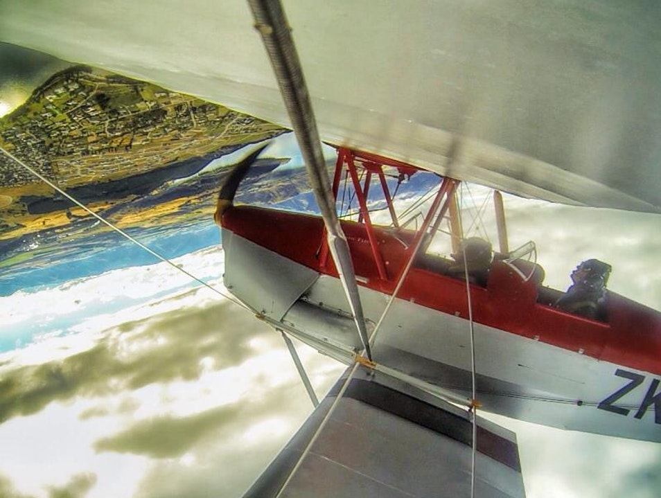 Flying in a Vintage Tiger Moth over Lake Wanaka