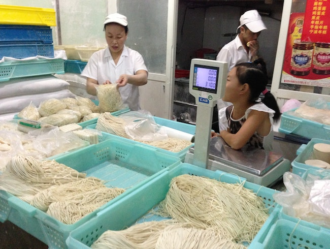 Oodles of Noodles at a Wet Market