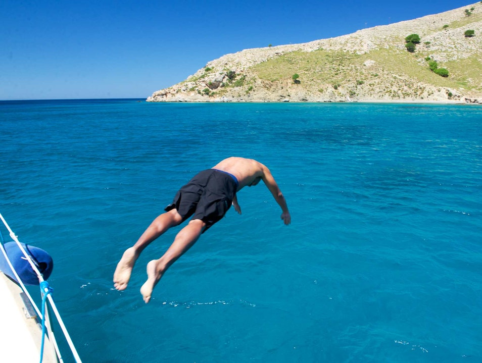 Dive Into The Blue Off an (Almost) Deserted Island