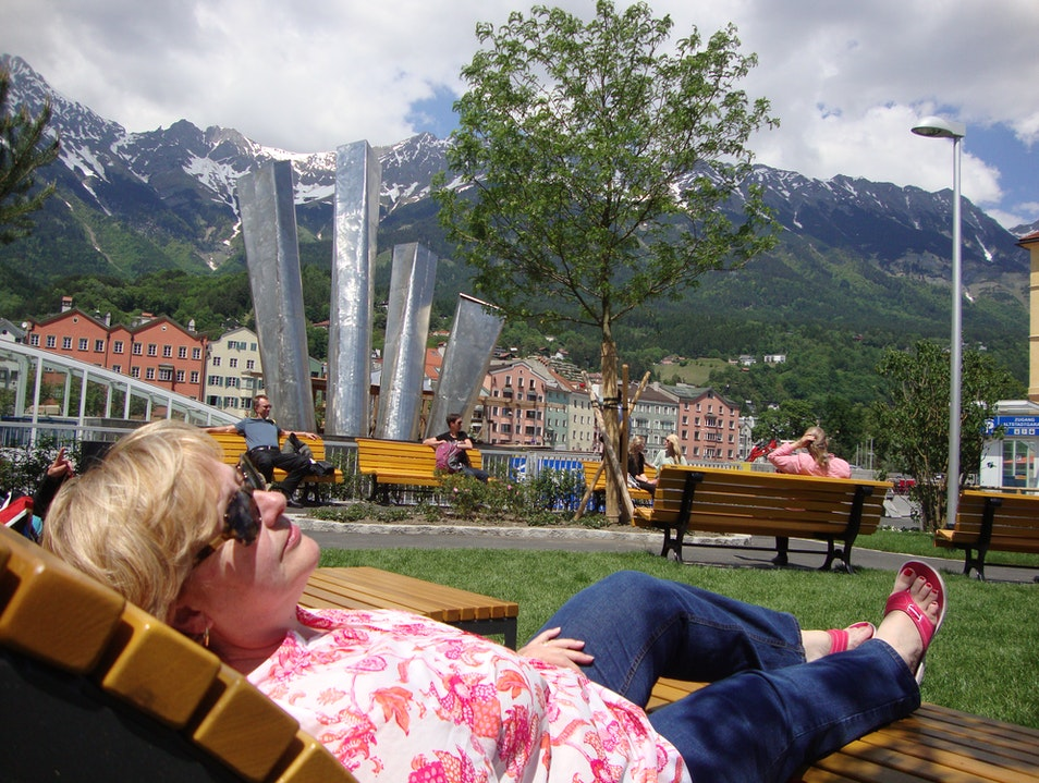 Lounger with an Alpine view