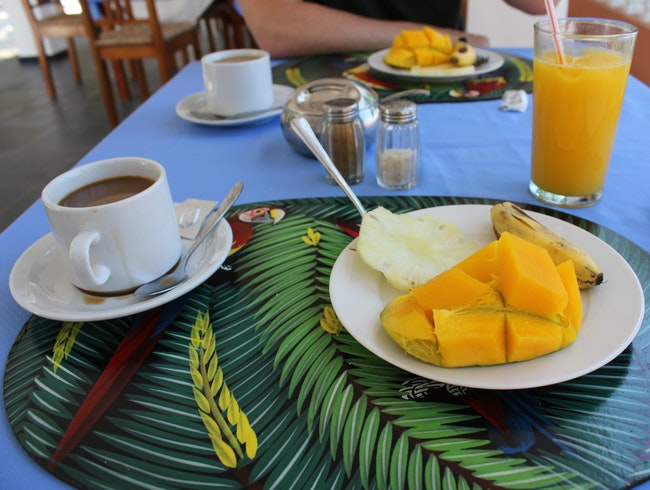 Breakfast at Hotel Civadier in Jacmel, Haiti
