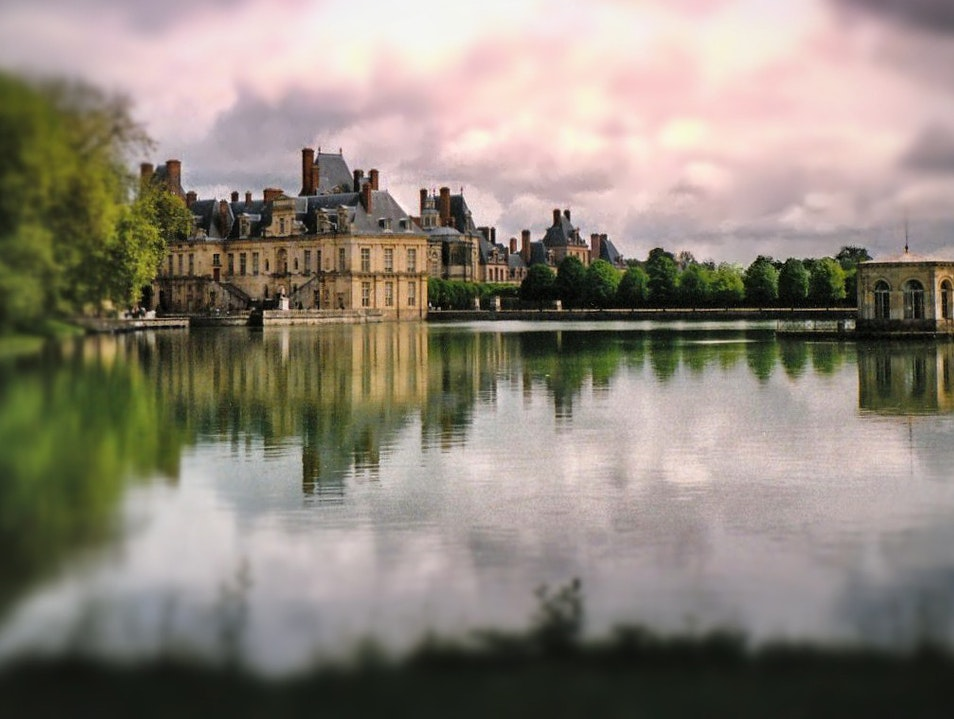 Out of the City, Through the Woods, to a Château Fontainebleau  France
