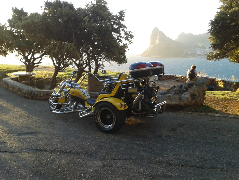 Romantic Chapman's Peak sunset trike tour. Cape Town  South Africa