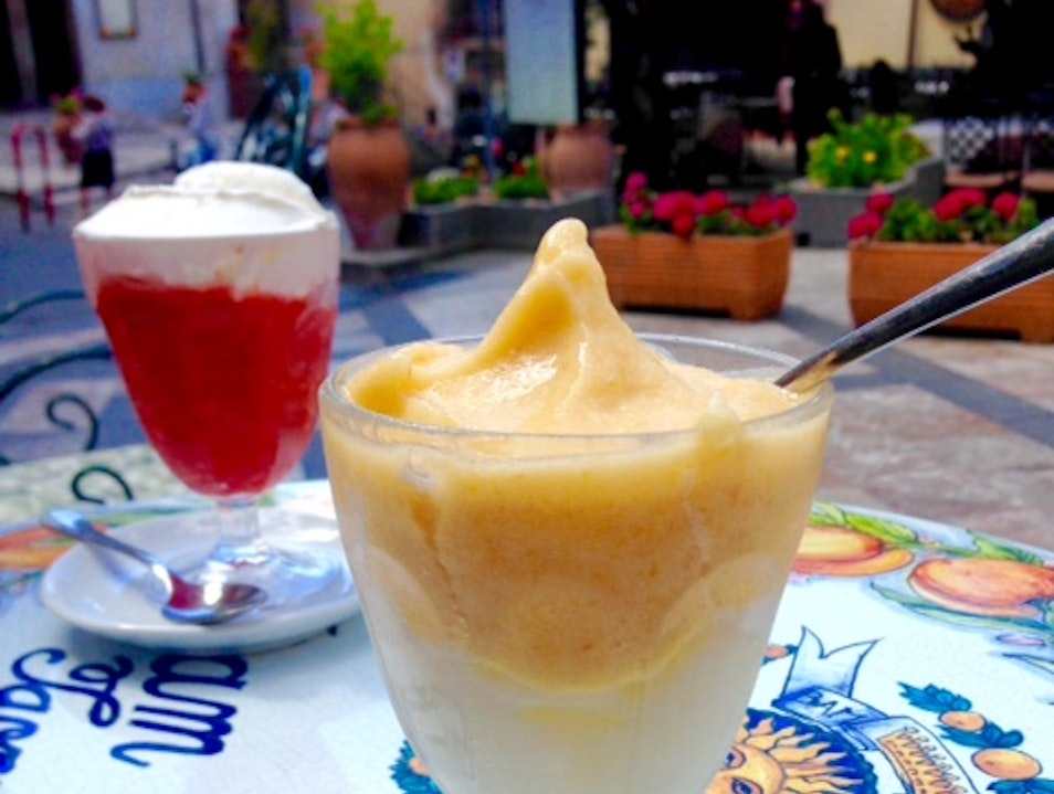 Eat Granita with the Locals for Breakfast Taormina  Italy