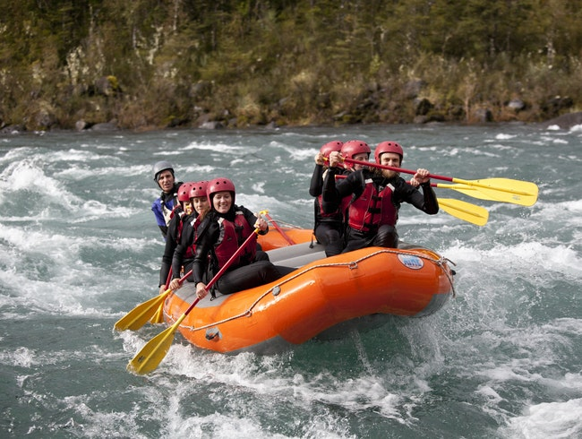 Raft Down Chile's Icy Blue Petrohue River with Ko'Kayak