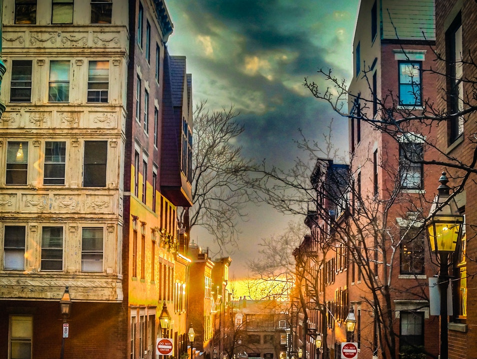 Fiery Sunsets  Boston Massachusetts United States