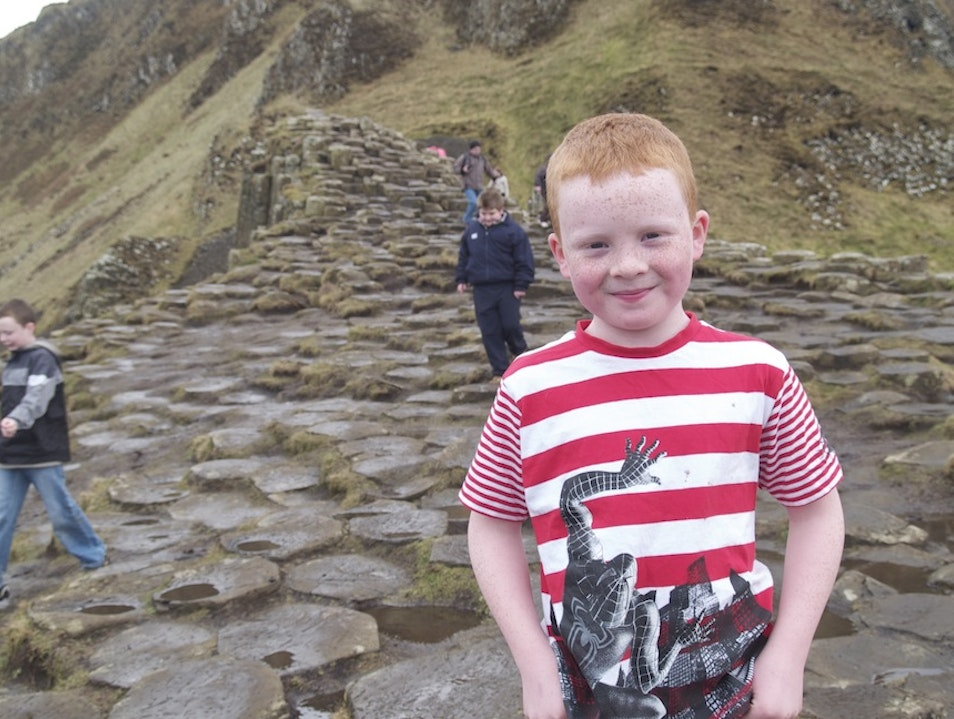 Young Lad, Giant's Causeway, Northern Ireland Bushmills  United Kingdom