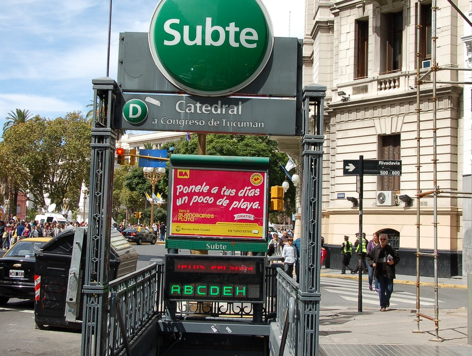 Save Some Money ... Use the Subway Buenos Aires  Argentina