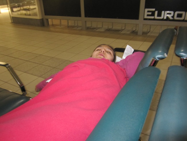 Sleepover at the Airport! :)