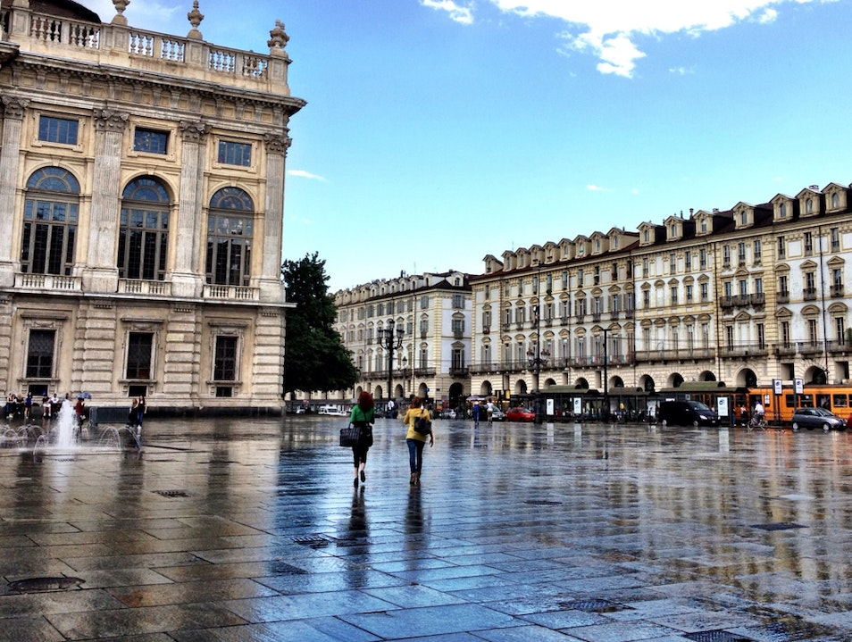 Sun and Showers in Torino Turin  Italy