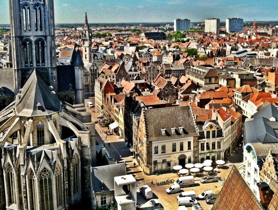 The View Overlooking Ghent from the Belfry Ghent  Belgium
