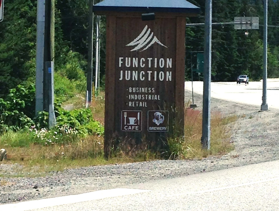 Shopping in Function Junction Whistler  Canada