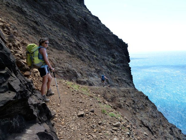 Hiking Kalalau, one careful step at a time