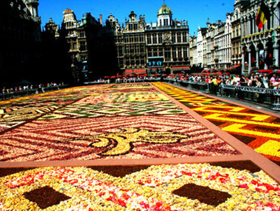 The whole square in color Brussels  Belgium