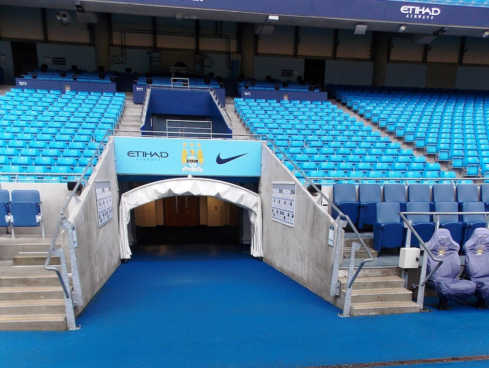 Ethiad Stadium, home of Man City FC Manchester  United Kingdom