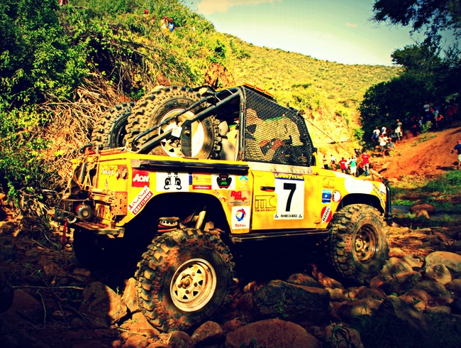 Off road racing at Kenya's annual Rhino Charge