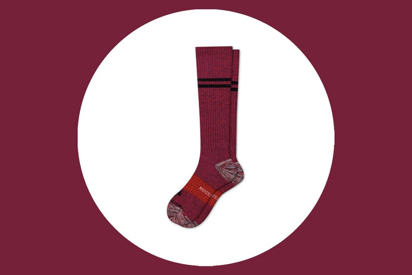 Bombas compression socks in red