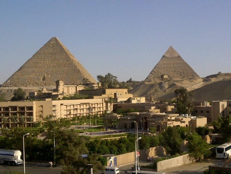 The View from my Apartment in Giza Cairo  Egypt