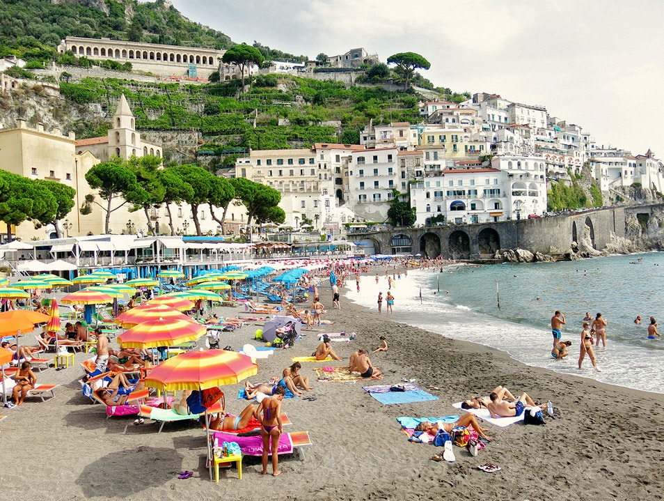 The Sensational Amalfi Beach on the Amalfi Coast, Italy Amalfi  Italy