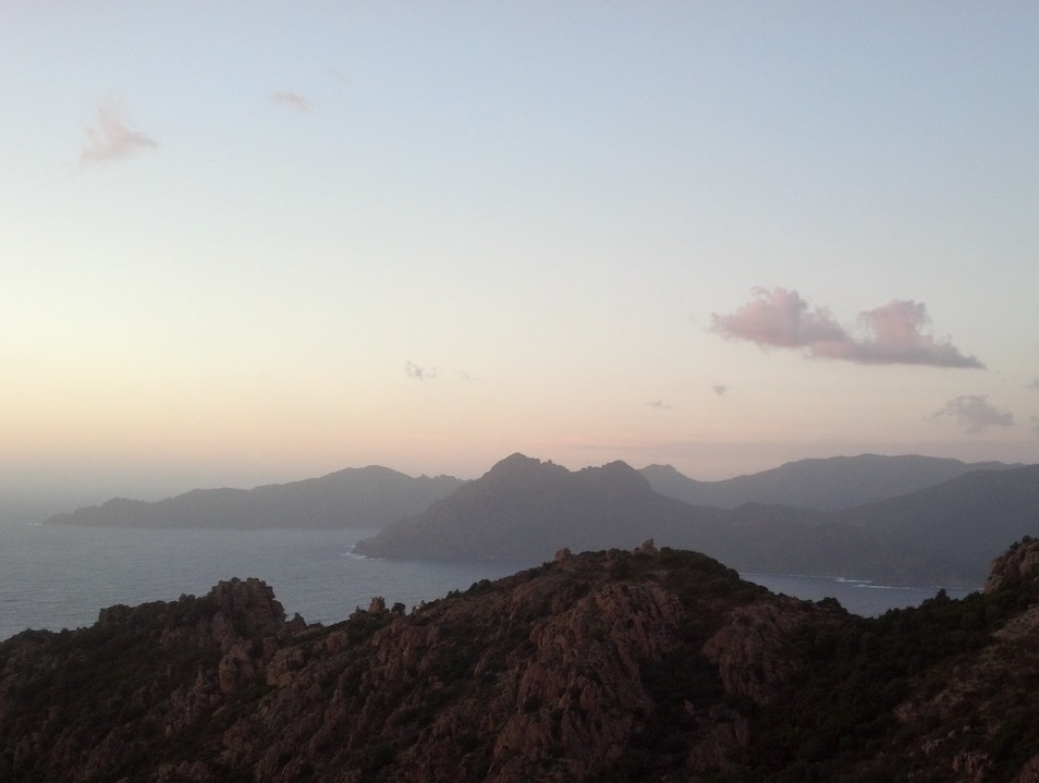 Corsican Sunset that Debussy would have composed for Piana  France