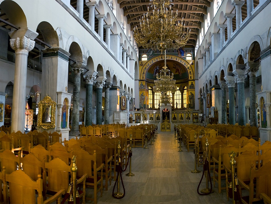 The inside of Hagios Demetrios Thessaloniki  Greece