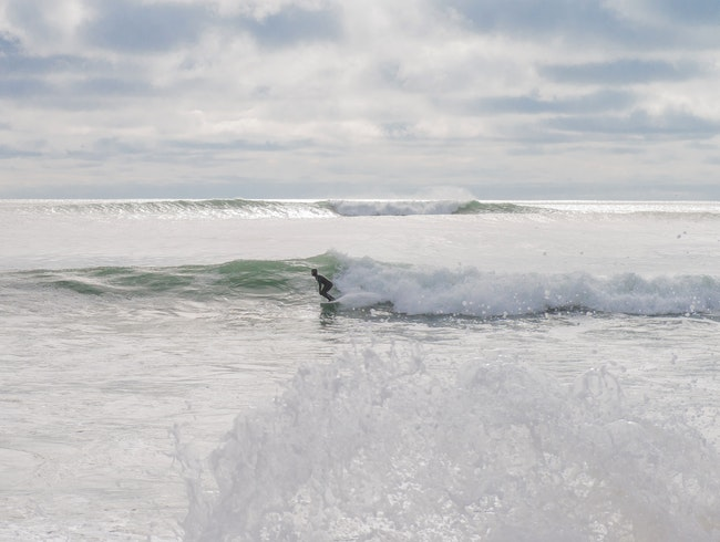 Surfing in Lawrencetown Beach