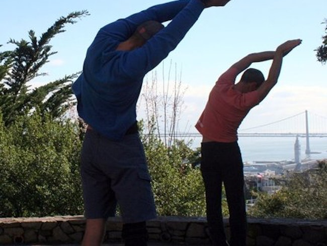 Urban Hiking + Yoga = Hiking Yoga