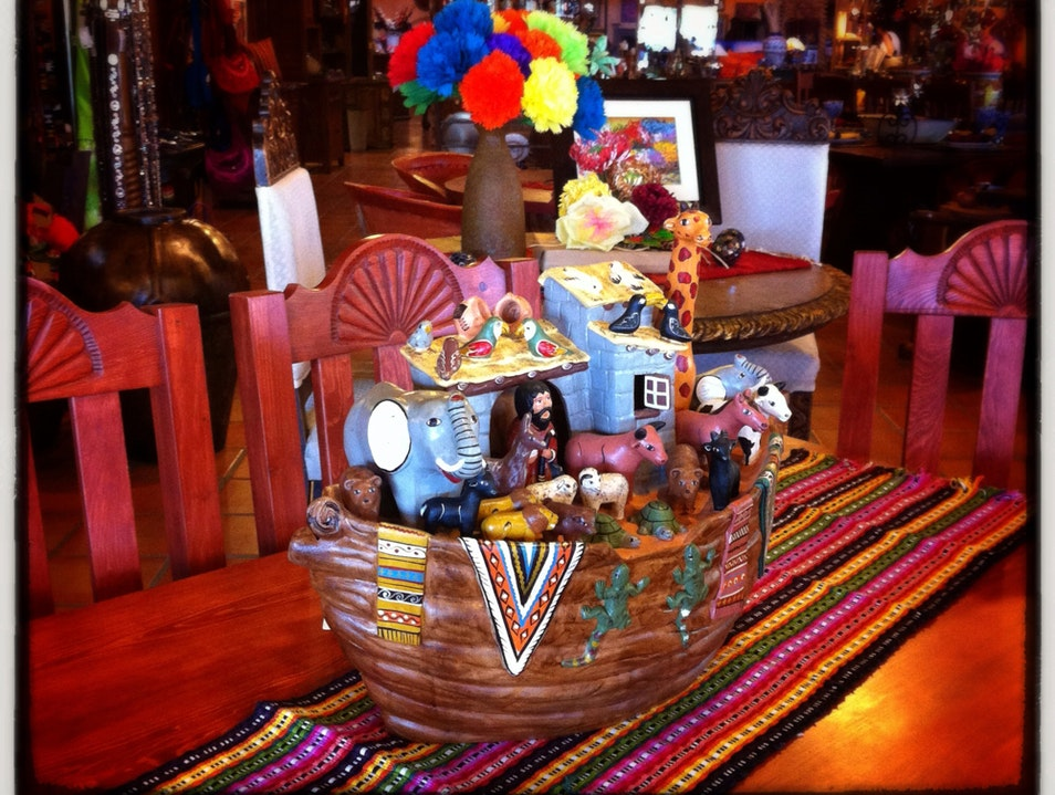 A Peruvian Noah's Ark, a Guatemalan Runner, a Mexican Table Tucson Arizona United States