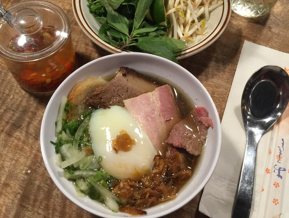 Have the best bowl of pho in your life at The Pig and the Lady