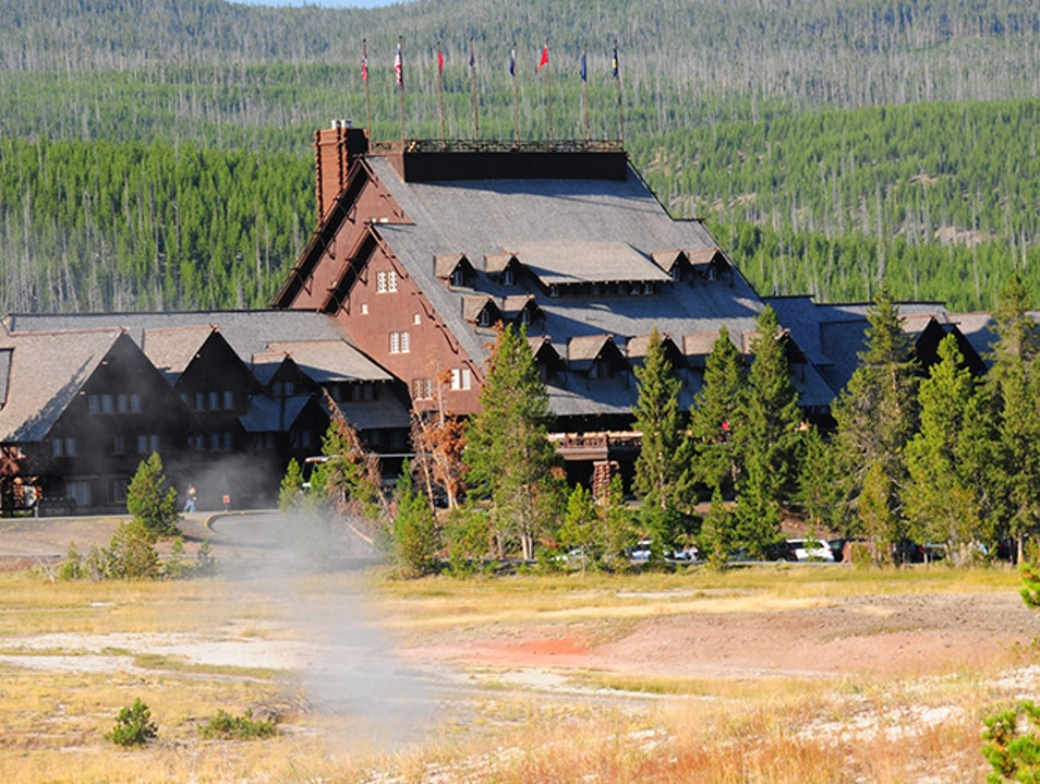 Old Faithful Inn Yellowstone National Park Wyoming United States