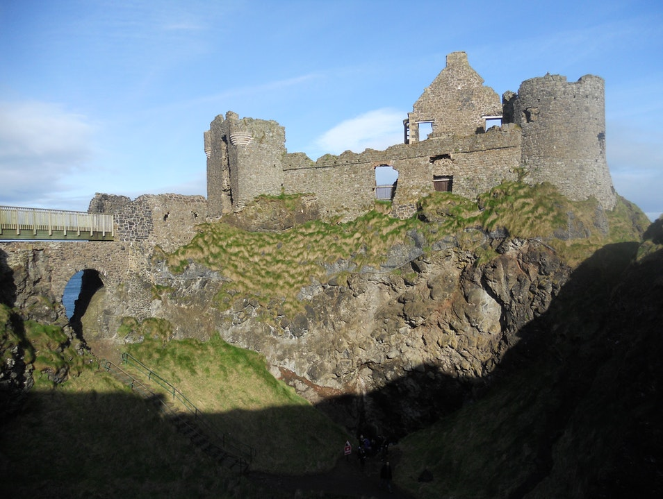 Daydreaming at Dunluce Castle Bushmills  United Kingdom