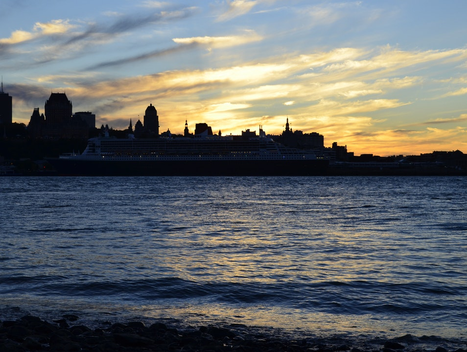 Watch the sunset behind Vieux Quebec